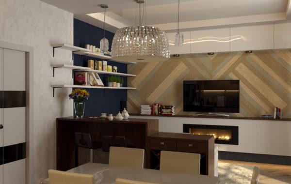 Уютная кухня-гостиная на 28 кв.м.